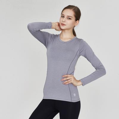 [TS7020 멜란지그레이]여자 런닝복 겸용 서플렉스 긴팔 요가복
