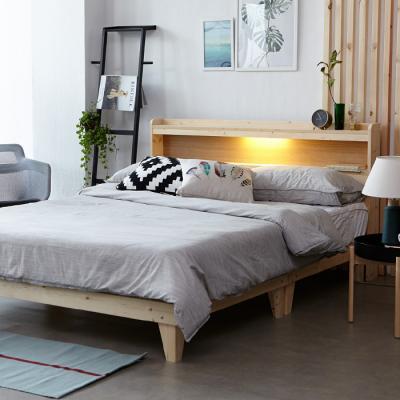 인터데코 원목 LED조명 침대 퀸 (매트별도) OT021