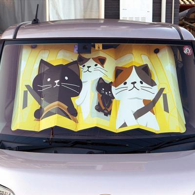 데꼴 차량 앞유리 햇빛가리개 (네코)