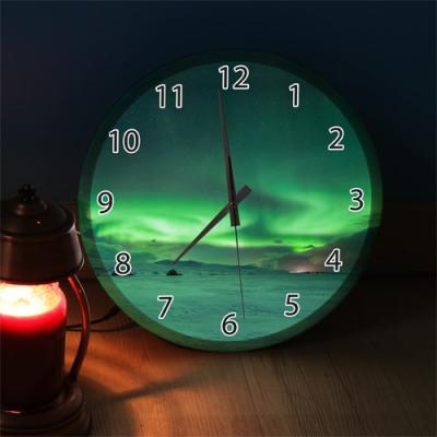ng169-LED시계액자35R_오로라풍경