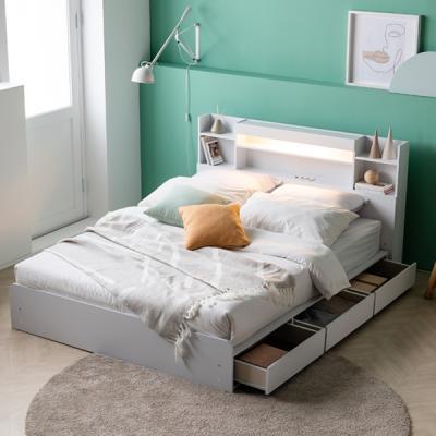 아르메 레이첼 LED 수납형 침대 Q_밸런스 독립매트
