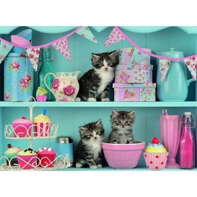 500조각 직소퍼즐 ▶ 고양이와 컵케익 (RA14684)