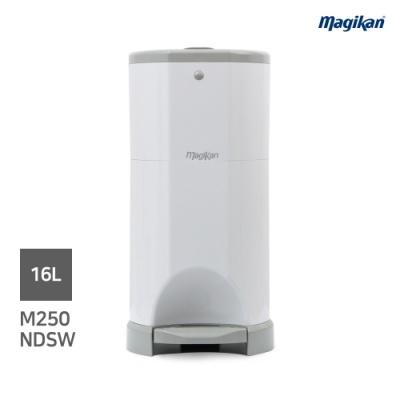 [매직캔] 휴지통16리터 기저귀휴지통(M250NDSW)화이트