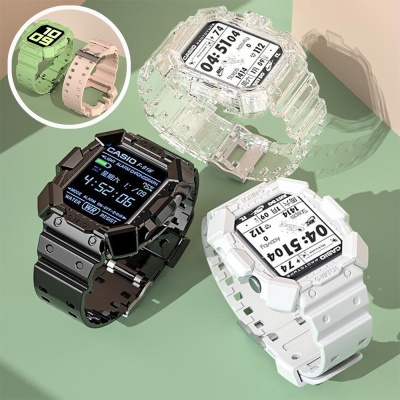 애플워치 6 5 4 se 일체형 실리콘 밴드 케이스 시계줄