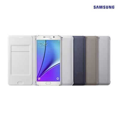 [SAMSUNG]삼성정품 갤럭시 노트5 플립월렛 커버(PU) 블랙/골드입고