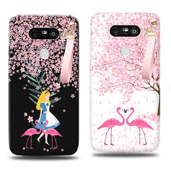 프리미엄 벚꽃엔딩 스트랩케이스(LG폰 시리즈)