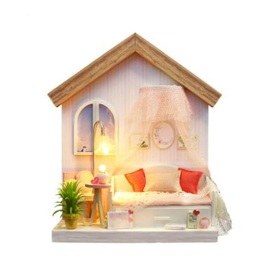[adico]DIY 미니어처 싱글하우스 - 핑크 침실