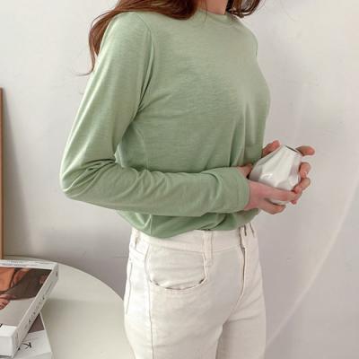 [애슬릿]국내 생산 오버핏 무지 여성 긴팔 티셔츠