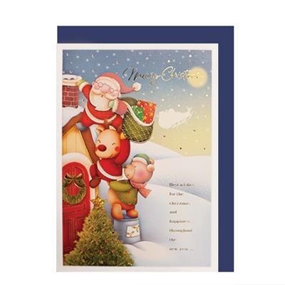 크리스마스카드/성탄절/트리/산타 크리스마스의 밤(FS204-5)
