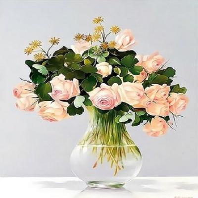 Q3442꽃화병시리즈 size 40*50cm그림그리기