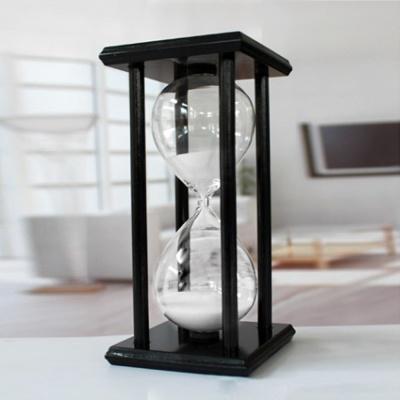 블랙원목 인테리어 모래시계(30분) (화이트)