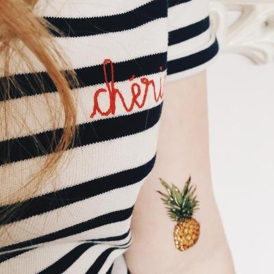 페이퍼셀프 타투스티커 - 20. Pineapples
