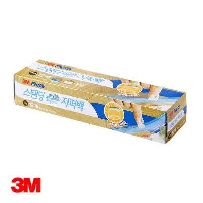 3M 스탠딩 슬라이드지퍼백 (대) 12매