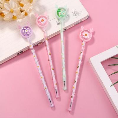 스팽클 데이지꽃 펜 사무용품 문구 볼펜