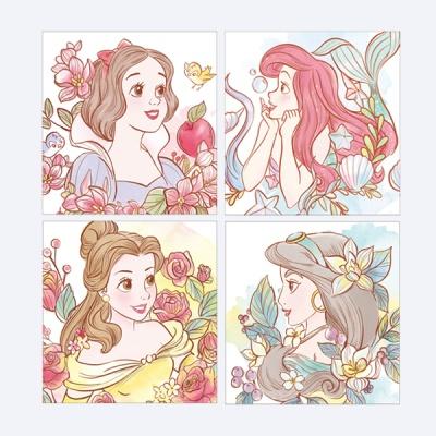 디즈니 프린세스 공주 DIY 그림그리기 미니이젤 20x20
