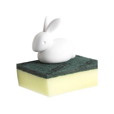 토끼 벽흡착식 수세미 보관홀더 (수세미포함)