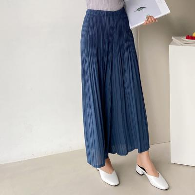 Pleats Nine Wide Pants - 치마바지