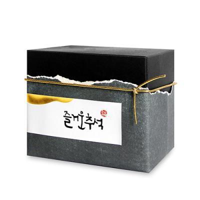 [금박] 구름 즐거운 추석 직사각 라벨 (10개)