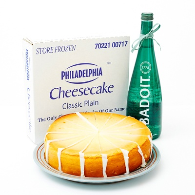 필라델피아 치즈케익 플레인(1700g)+바두아탄산수750