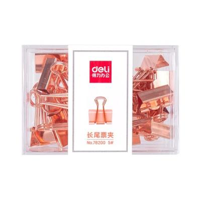 DELI 델리  메탈 더블클립 5호 (19mm) 78200-로즈골드 25PCS
