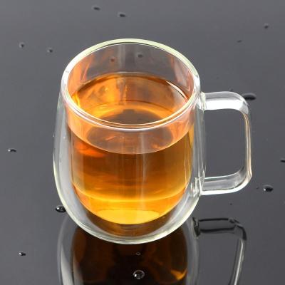 [로하티]감성 이중유리컵 / 홈카페 주스 물잔