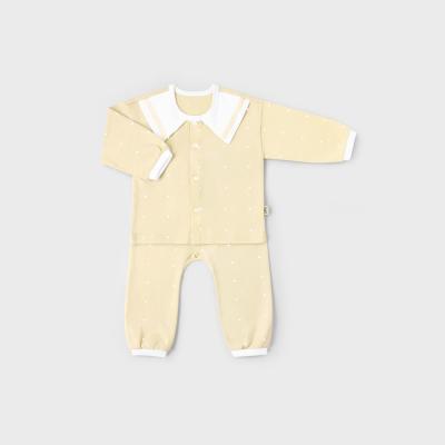 [메르베] 심플마린 신생아 아기내의/실내복_사계절용