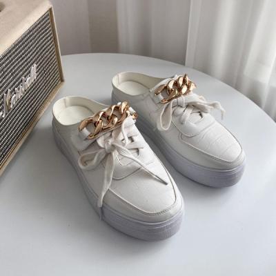 JM-946(U) 골드체인 스니커즈 키높이 뮬 블로퍼 신발