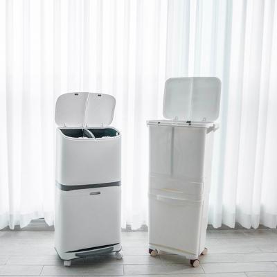 대용량 이동식 분리수거함 2단 3단 쓰레기통 NA01