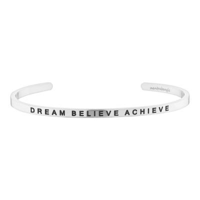 [만트라뱅글] DREAM BELIEVE ACHIEVE - 실버