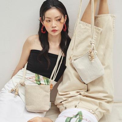 Wood detail mini bag 3 color