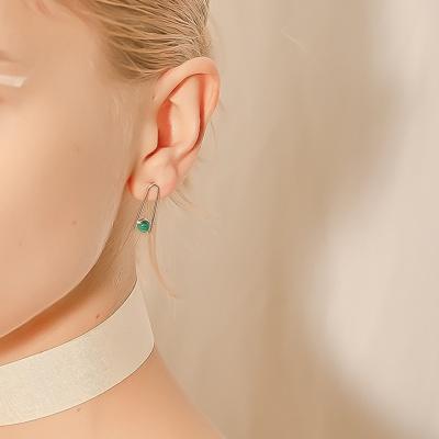 i_e62 - Malachite A earring