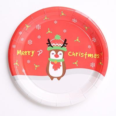 크리스마스 파티접시 18cm (10개입) 루돌프
