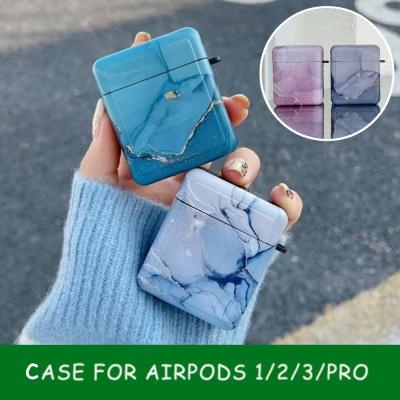 에어팟 프로/3/2/1 사각 컬러 대리석 실리콘 케이스