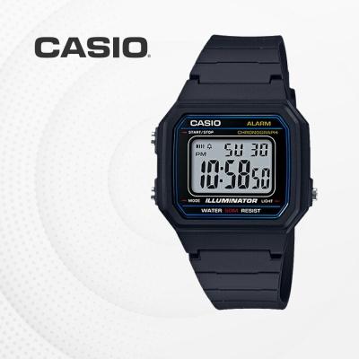 카시오 군인 군용 전자 남성 손목시계 W-217H-1A