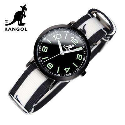[KANGOL] 캉골시계 나토밴드시계 KG11132_1 BWB LOGO