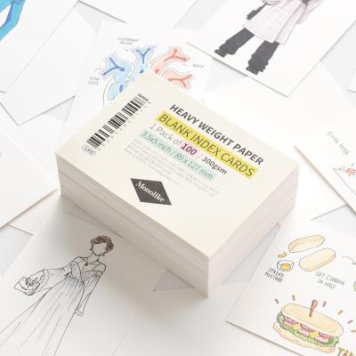 블랭크 인덱스카드 화이트 100매 - 3.5x5