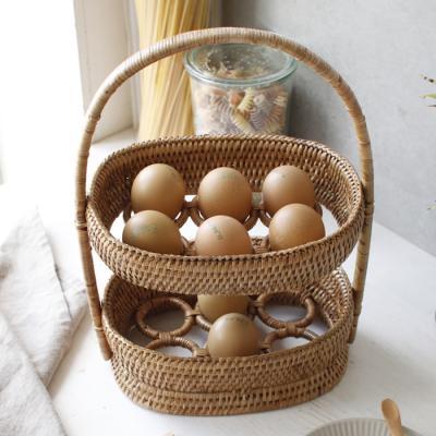 라탄 계란 바구니