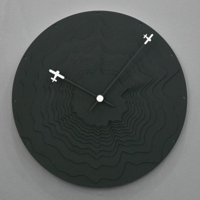 에어플레인 블랙 무소음 벽시계
