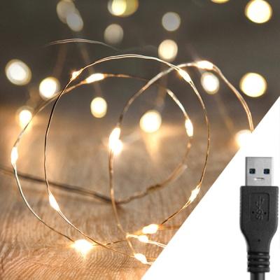 스트링라이트 10M USB 웜골드_코퍼 와이어