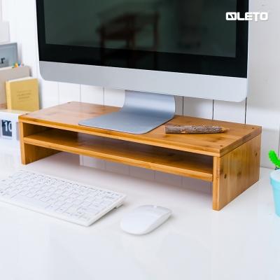 레토 원목 대나무 2단 모니터받침대 LMS-B04D 모니터거치대/스탠드