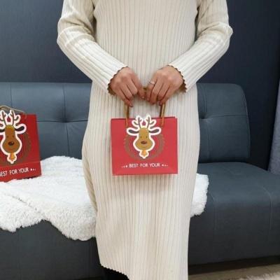 루돌프 쇼핑백 소 선물가방 기프트 휴대용
