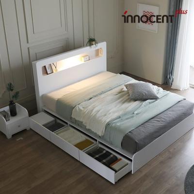 [이노센트] 리브 베리나 LED 멀티수납형 침대 Q/K
