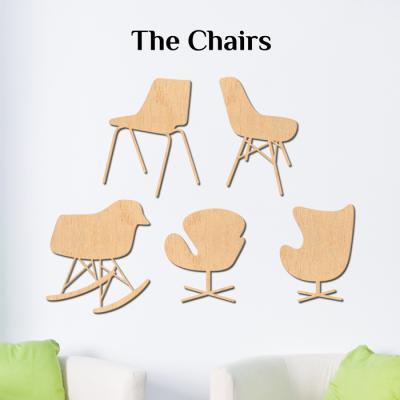 우드스티커- 더체어스 (반제품) 의자 W527 데코 입체