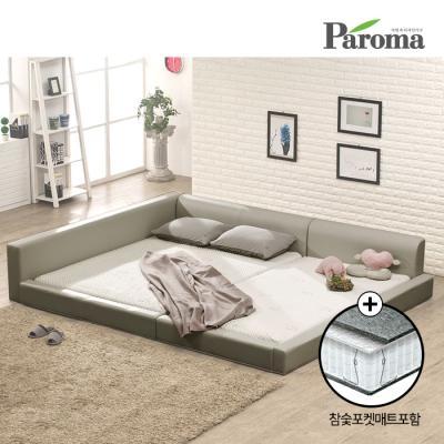 파로마 플러스 패밀리침대 SS+SS 참숯 포켓메트리스