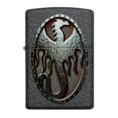 ZIPPO 라이터 49072 Metal Dragon Shield Design