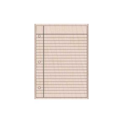 우드스탬프 - notebook paper