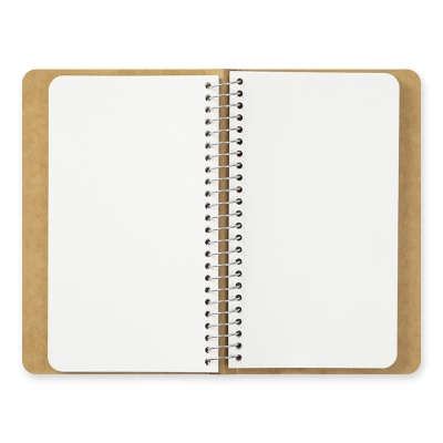 SPIRAL RING NOTEBOOK (A6 slim) MD White
