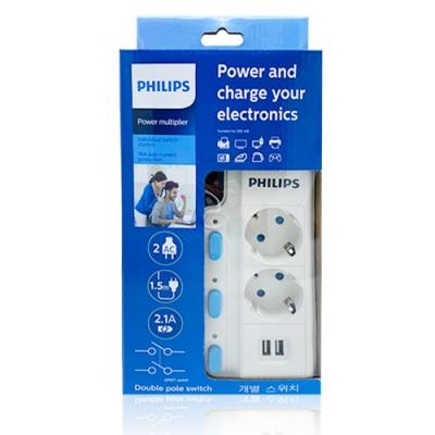 필립스 USB멀티탭/정품/USB개별 멀티탭 2구1.5M