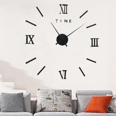 DIY 아트 로마숫자 붙이는 벽시계(블랙)