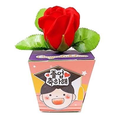 졸업 장미꽃 메세지 화분(1인용)